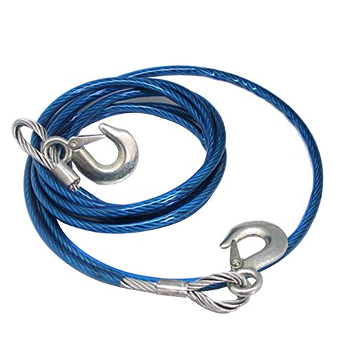 Hongshida Emergency 5 Tons Heavy Duty Wire Tow Strap with Spring Latch Hooks (Master Tow Dolly compare prices)