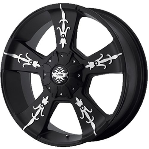 Kmc Km668 22X9 Black Wheel / Rim 8X6.5 With A 18Mm Offset And A 125.50 Hub Bore. Partnumber Km66822980718