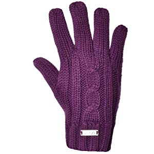 Fila Vintage Womens Winter Woolie Gloves M - Purple -AX00360