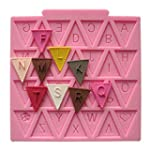 Letter Flag Bunting Silicone fondant...