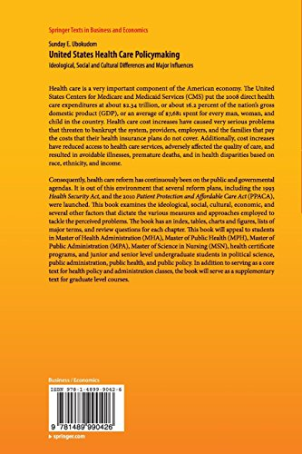 United States Health Care Policymaking (Springer Texts in Business and Economics)