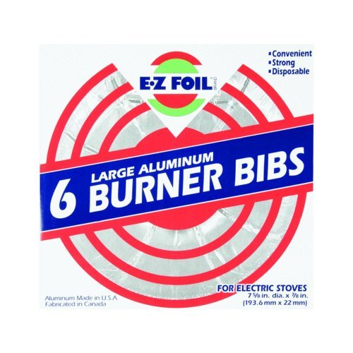 Hefty Ez Foil Large Aluminum 6 Burner Liners For Electric Stove Packagequantity: 6 Home & Kitchen front-321258