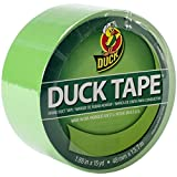 Duck Brand 1265018 Color Duct Tape, Neon Lime Green, 1.88-Inch by 15 Yards, Single Roll