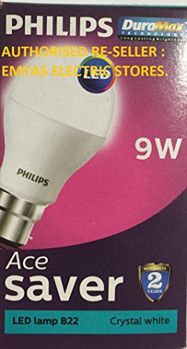 Philips Ace Saver 9W B22 825L LED Bulb (Cool Day Light, Pack Of 9)