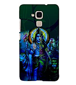 Shambhu 3D Hard Polycarbonate Designer Back Case Cover for Huawei Honor 5C : Huawei Honor 7 Lite : Huawei GT3