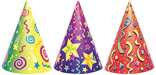 Kaleidoscope Party Hats, Assorted 6ct
