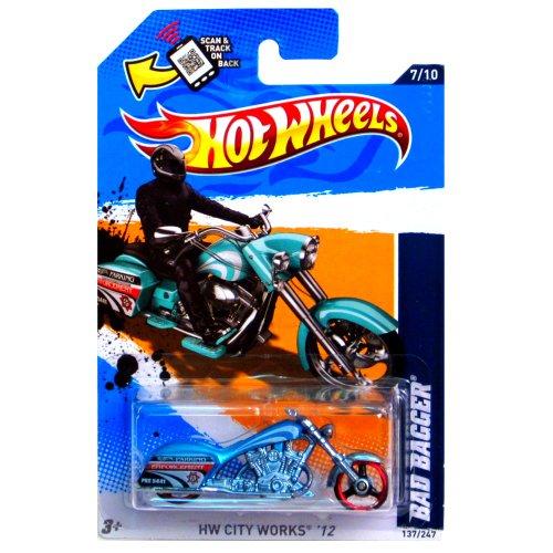 2012 Hot Wheels HW City Works Bad Bagger Blue Green #137/247