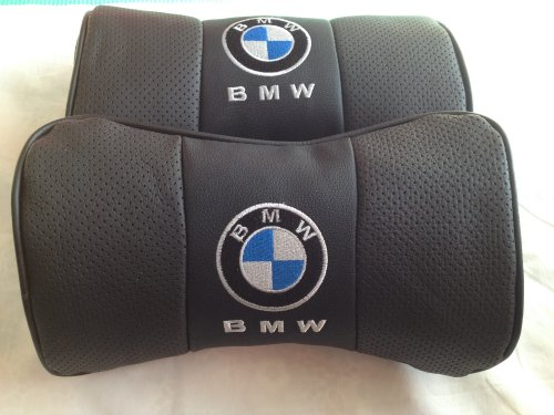 bmw ロゴ本革刺繍レザーネックパッドセット 黒 並行輸入品
