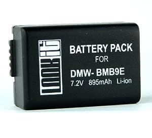 """LOOkit® Batterie Quality pour Panasonic DMW BMB9 E avec puce Infos système intelligent de la batterie - 100% compatible """"nouvelle génération"""" - avec l'affichage du temps restant """"Pour Panasonic Lumix DMC FZ45 / FZ48 / FZ100 / FZ150 / FZ60 / FZ62 par exemple Leica V-LUX 3"""