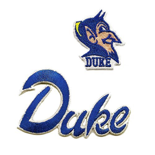 NCAA Duke Blue Devils Patch University Logo Embroidered Iron on Applique Set of 2 (Collegiate Iron On Letters compare prices)