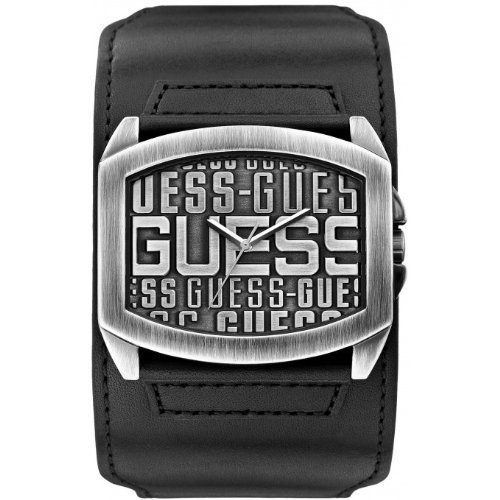 Guess W0360G1 - Reloj de cuarzo para hombre, correa de cuero color negro