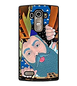 Fuson Premium 2D Back Case Cover Man peeping With Multi Background Degined For LG G4::LG G4 H815