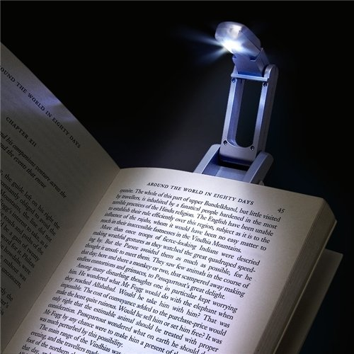 Eforcity® Book Reading Light With Clip, Silver