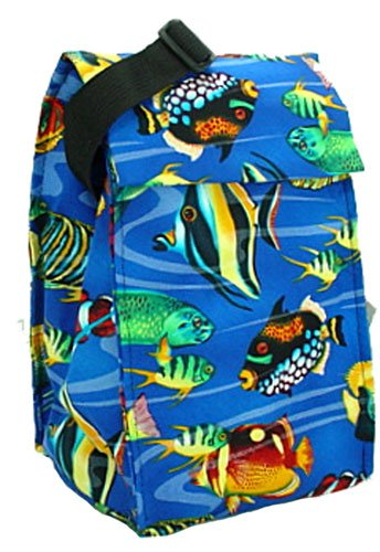 Cool Tote Insulated Lunch Bag Grande with Freezer Pack (TropicalFish) - 1