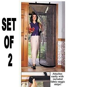 """36"""" INSTANT MOVEABLE MESH SCREEN DOOR (Set of 2)"""