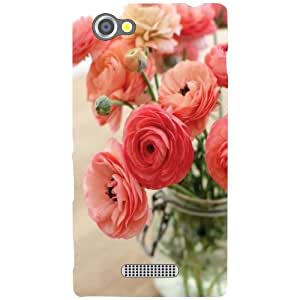 Printland Bouquet Of Flowers Phone Cover For Sony Xperia M