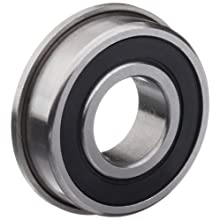 Dynaroll R-Series Ball Bearing, Double Sealed, Flanged, 52100 Chrome Steel