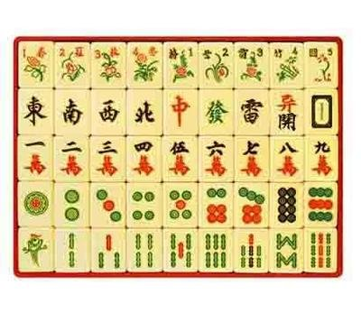 マウスパッド 麻雀 面白 オシャレ 牌 漢字 パソコン PC  天然ゴム & 布素材 大判 厚さ 5ミリ