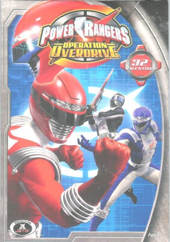 Box of 32 Power Rangers Operation Over-drive Valentine Cards - 1