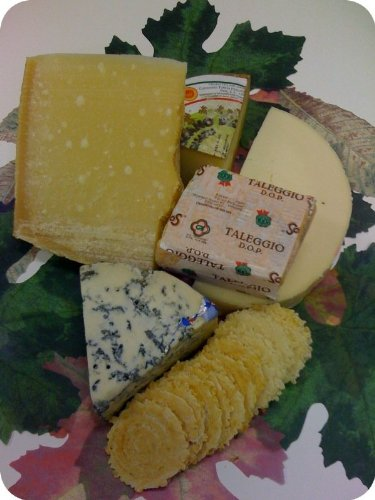 Holiday Cheese & Cracker Assortment - Reggiano, Pecorino Toscano, Mountain Gorgonzola, Provolone, Ta