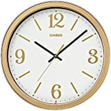 Casio Round Resin Wall Clock (35 Cm X 35 Cm, Gold, IQ-71-9DF)