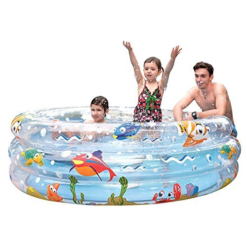 Jilong Ocean Fun Ring Pool 170 - large children´s pool with sea animals print, for children from 6 years, Ø170x53 cm by Jilong
