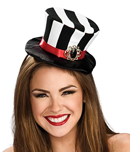 Rubie's Costume Co Women's Black and White Striped Mini Top Hat, Black/White, One Size - 1