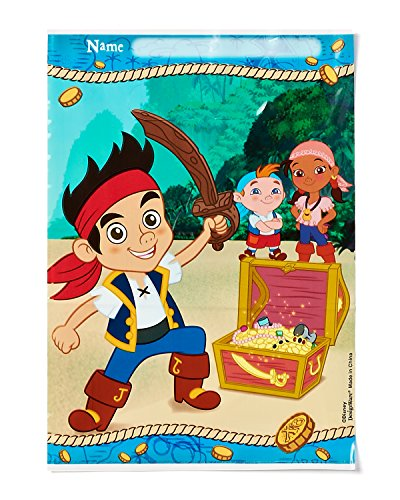 American Greetings Jake and the Never Land Pirates Treat Bags (8-Pack), Party Supplies
