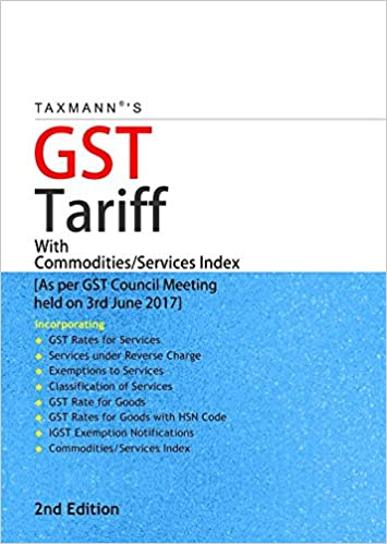 GST Tariff with Commodities/Services Index GST Rates Goods