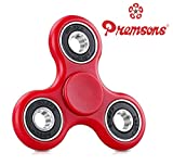 #8: Fidget Spinner 608 Four Bearing Guarantee 2 min + Spin Time ! Premium Quality ABS Material Hand Spinner Tri-Spinner Ultra Speed Toy - Red + Black