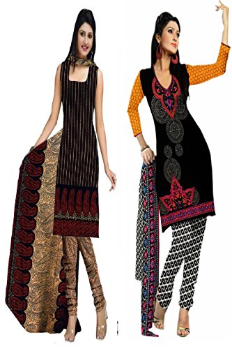 Araham soft crepe / American crepe dress material / unstitched Salwar Suit pack of 2 combo No 511