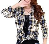 (マガザンレーブ) mgzan rev レディース チェック 柄 長袖 半袖 シャツ ブラウス 各色