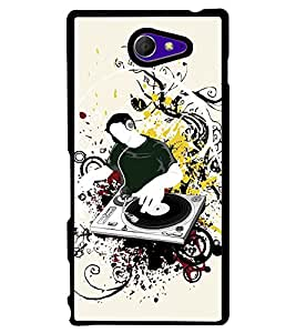 Printvisa Dj Introducing New Music Back Case Cover for Sony Xperia M2 Dual D2302::Sony Xperia M2