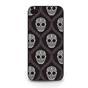 Cminev Customize Phone Cases,Black Hard Iphone 6 Case ( Floral Skull cool Iphone 6 phone cases )