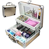 New Year Aamzing Gifts From CA, USA. Professional 25 in 1 Eyelash Extension Mink False Eye Lash Lashes Glue Eyelashes Remover Removal Mascara Full DIY Tools Kit Super Set with Fashion Gold Hard Box Case Suitcase A158