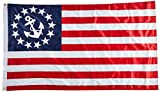 Us Flag Store U.S. Yacht Anchor Superknit Polyester Double Sided Flag, 3-Feet By 5-Feet