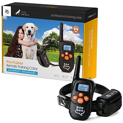 Sit Boo-Boo Pro Trainer Rechargeable Waterproof Dog Training Collar with Remote and E-Book for Small to Large Dogs, 330-Yard (Little Dog Remote Trainer compare prices)