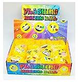 12 PCS Light-Up Emoji Balls LED Flashing Emoticon Emotion Sensory Fun Dog Toy