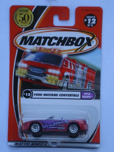 Matchbox 2002-12/75 Style Champs Ford Mustang Convertible 50 Years 1:64 Scale - 1