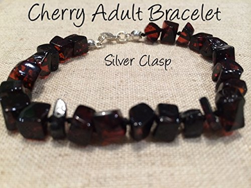 Healing Bracelet 8 inch arthritis carpal tunnel swelling headache Baltic Amber for Adults Baltic Amber Bracelet for Adults polished Black Cherry Silver Clasp Boy Girl Unisex Man Woman Certified Authentic. Anti-inflammatory, Reduction in Inflamation Symptoms Such As Carpal Tunnel, Back Aches, Head Aches, Tooth Aches, Swelling, General Aches and Pains. Highest Quality Helps with soothing and insomnia, stress, and some reflux & eczema.