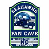 "NFL Seattle Seahawks 11-by-17 ""Fan Cave"" Wood Sign at Amazon.com"