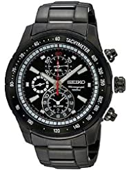 Men's Stainless Steel Alarm Chronograph Black Dial
