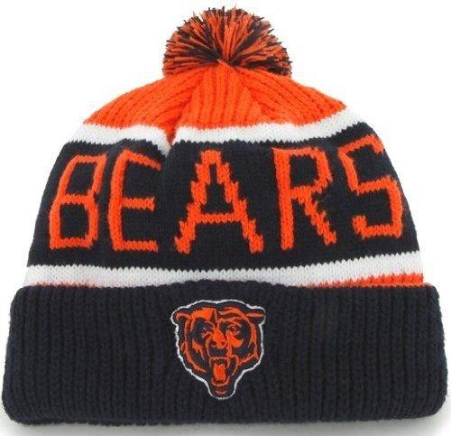 Nfl Chicago Bears Men'S Calgary Knit Cap, One Size, Orange front-906553