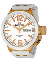 TW Steel Men's CE1035 CEO White Leather Strap Watch