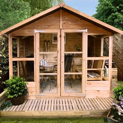 7FT x 7FT HAVANA TONGUE & GROOVE SUMMERHOUSE