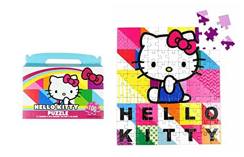 "Sanrio Hello Kitty Floor Puzzle Gift Box (100-Piece) 9.1"" x 10.3"" - 1"