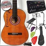 Andaluza Spanish Styled Guitare classique avec table en épicéa pour débutants, et éco