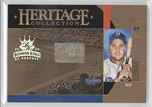 Duke Snider #14/50 Brooklyn Dodgers (Baseball Card) 2005 Donruss Diamond Kings Heritage Collection Material Jersey #Hc 8
