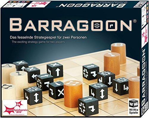 WiWa Spiele 790016 – BARRAGOON – Gewinner MinD-Spielepreis 2016 ( Gesellschaftsspiel Brettspiel Strategiespiel für 2 Spieler ab 8 10 12 Holz Spiel Steine)