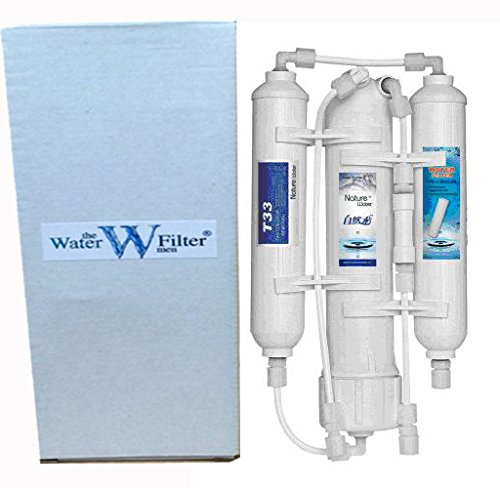 Reverse osmosis aquarium water filter system 3 stage for Fish filtration system